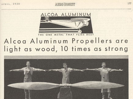 ALCOA Aluminum April 1930