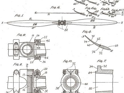 McCauley Solid Steel Blade DWG. SS 210 - patent