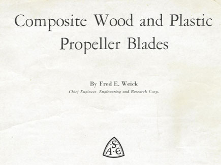 Composite Wood and  Plastic Propeller Blades